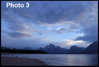 Mount Moran and Coulter Bay in Grand Teton National Park illustrating rule of thirds.