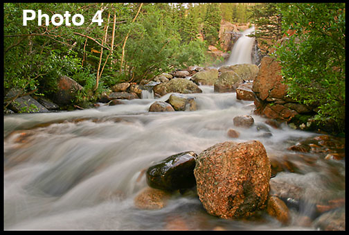 This photo of Alberta Falls in Rocky Mountain National Park shows rule of thirds