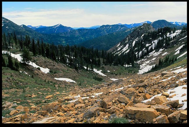 Bible Verse of the Day: The View from Necklace Pass, Bob Marshall Wilderness, Montana and John 1:23.