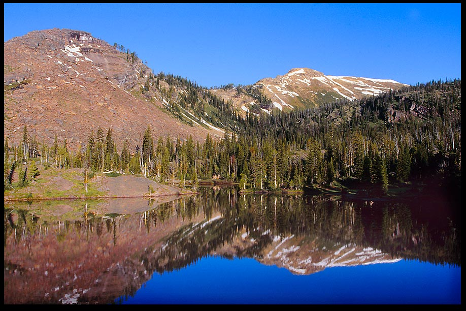 A Lake Nestled in the Mountains, Bob Marshall Wilderness, Montana and 2 Samuel 22:47 God my rock
