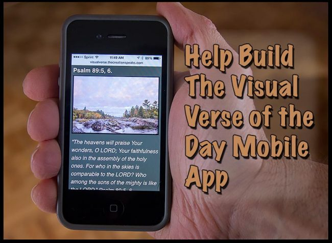 The Visual Verse of the Day Mobile App