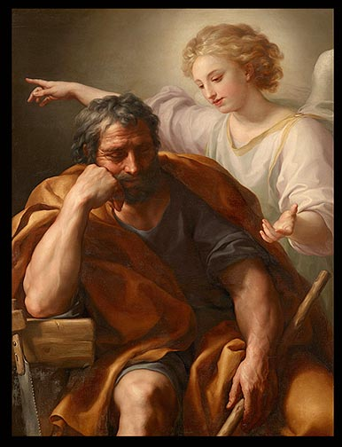Anton Raphael Mengs - The Dream of St. Joseph Kunsthistorisches Museum blog about Joseph's character