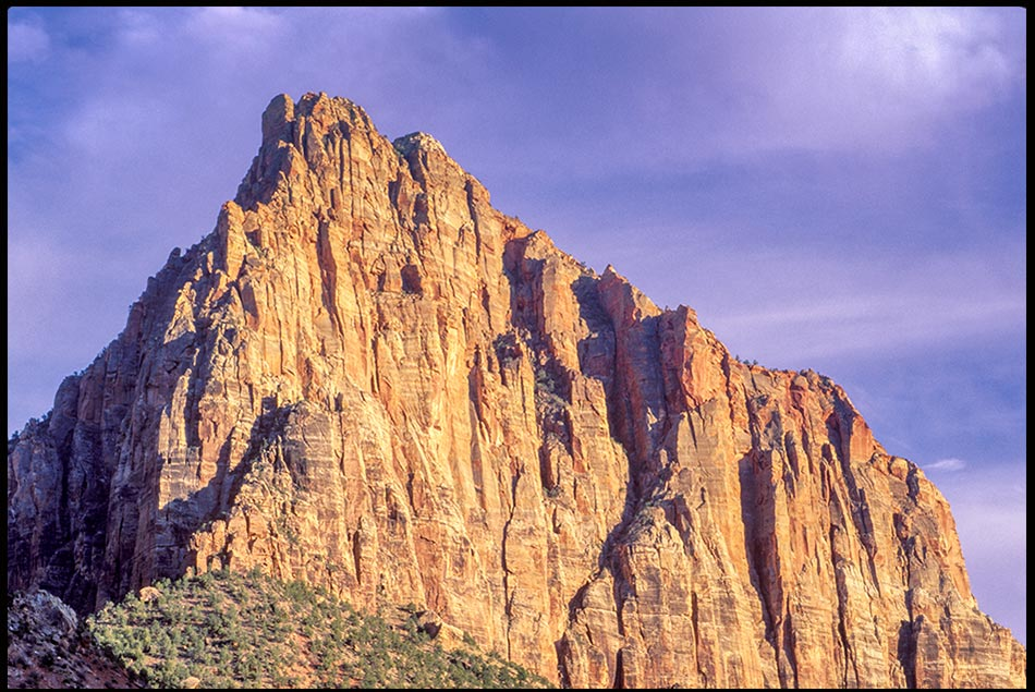 The rugged face of The Watchman Pea in Zion National Park, Utah and Ezekiel 33:6