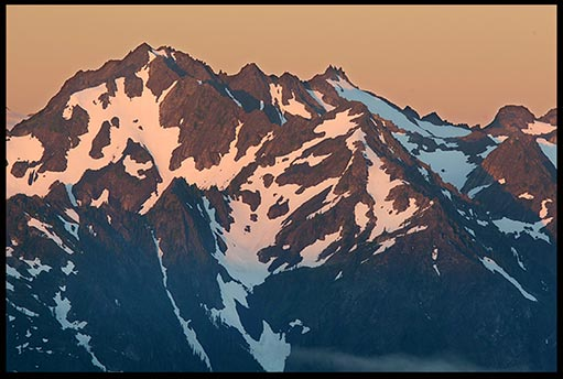 Olympic Range at Sunrise in Olympic National Park. Mountains reveal the greatness of God