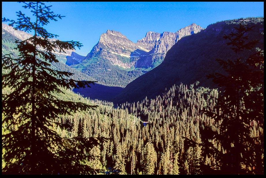 Going to the Sun Mountain Glacier National Park and Bible verse Psalm 97:9 Lord most high