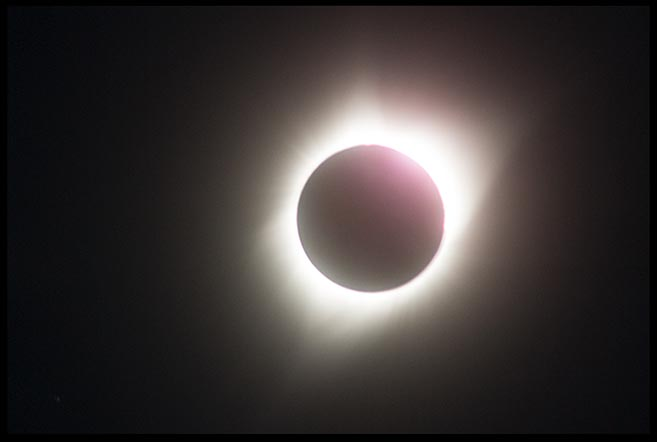 The total eclipse of the Sun seen from Central Nebraska and Bible verse Job 19:24, my redeemer lives