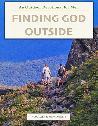 Book cover for a men's outdoor devotional Finding God Outside.