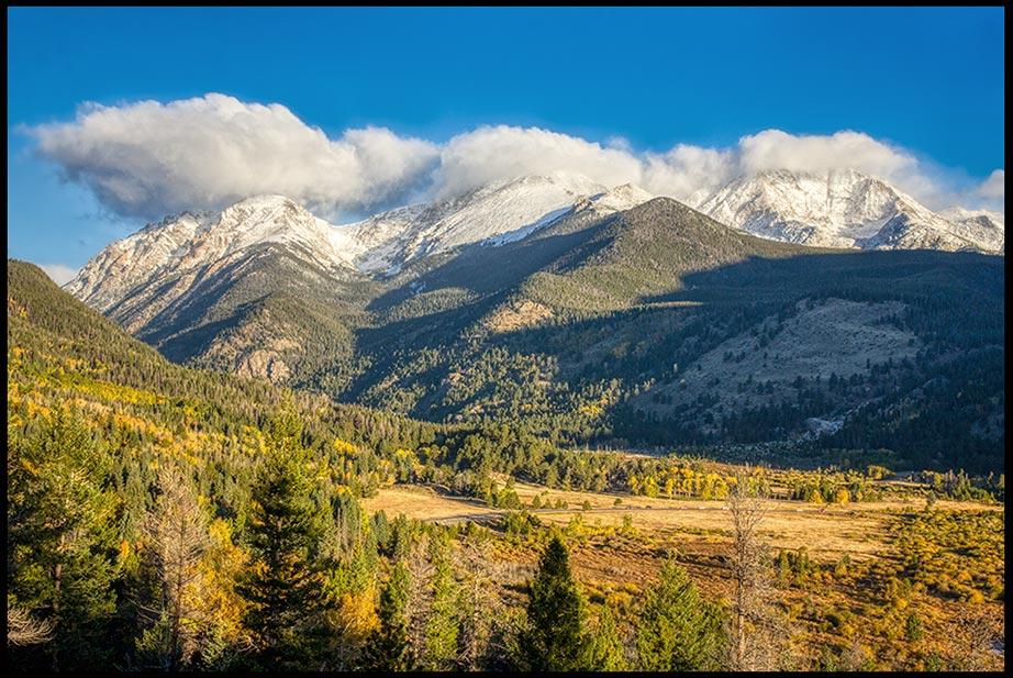 The Mummy Mountain Range Above Horseshoe Park, Rocky Mountain National Park, Colorado and Bible versePsalm 2:1-2, 4 the nations rage