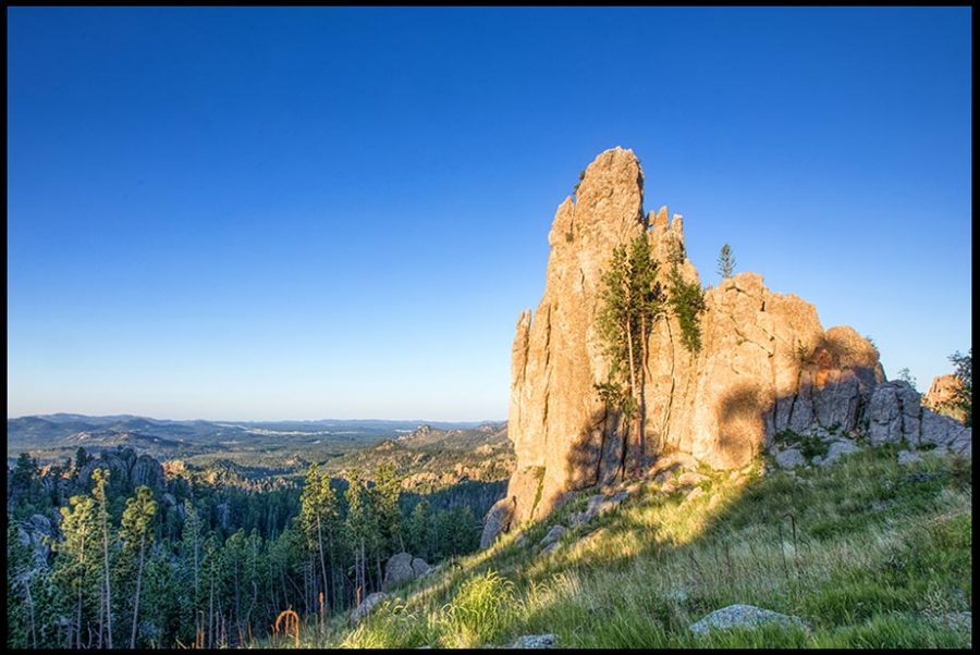 A triangular rock formation in Black Hills, South Dakota. Ephesians 6:13-14a and take a stand for God Bible verse