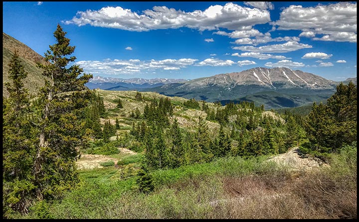 A few of mountains along the Mohawk Lakes trail in Colorado. We is easy to experience the greatness of God in the mountains.