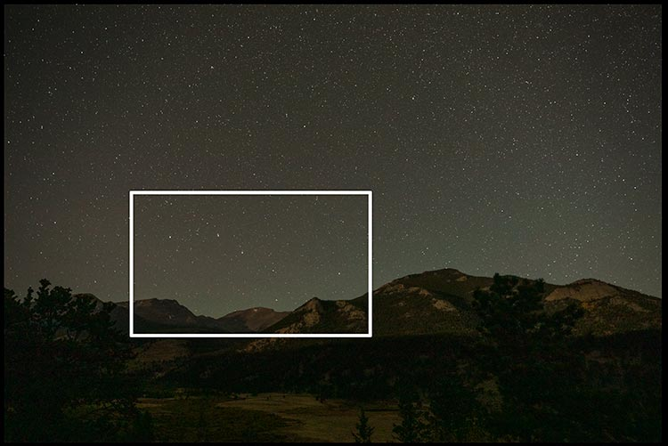 The Big Dipper above the Colorado Rockies in seen from Rocky Mountain National Park